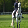 Will Furlong trying to grab the iconic shot, with Collien P 2's ears with the Badminton House back drop