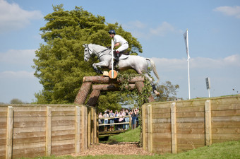 Harry Meade cruising over the National Star Trakehner