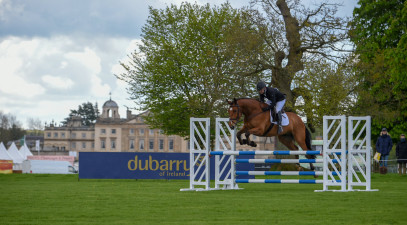 Plenty of action in the Dubarry Young Event Horse classes