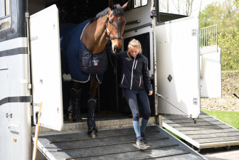 Brendonhill Doublet arriving to make his Badminton debut with Imogen Gloag