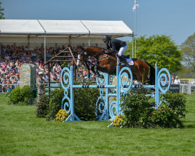 Bradeley Law leaping in the show jumping