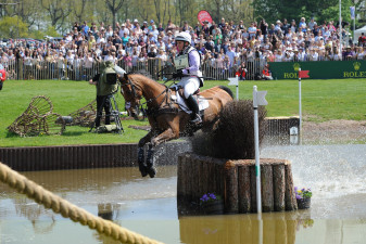 Gemma Tattersall giving Pamero 4 a fantastic ride around his first Badminton