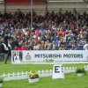 Jonelle Price giving the crowd a wave after her fine test on Classic Moet