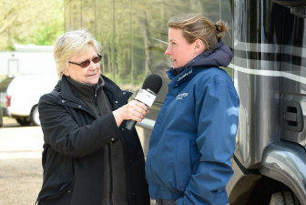 Flora Harris being interviewed by BBC Radio Wiltshire