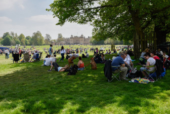 Catching a couple of rays in front of Badminton House