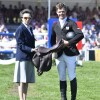 The Princess Royal presents the Worshipful Company of Saddlers saddle to Will Furlong as the rider with the best score under the age of 25. The Princess Royal is Royal Master of the Worshipful Company of Saddlers