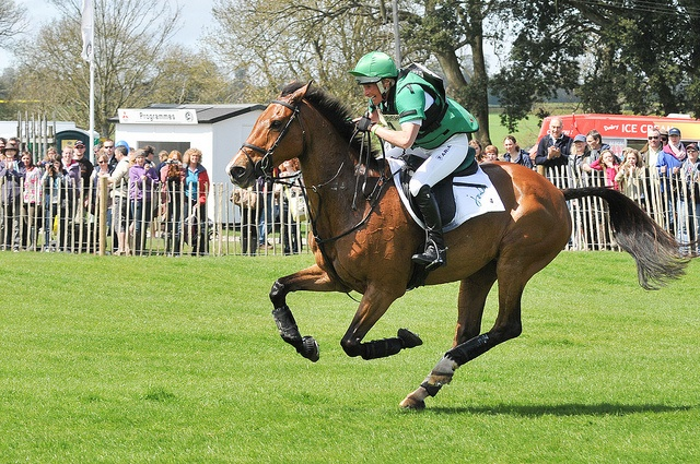 Mary King galloping at Badminton Horse Trials