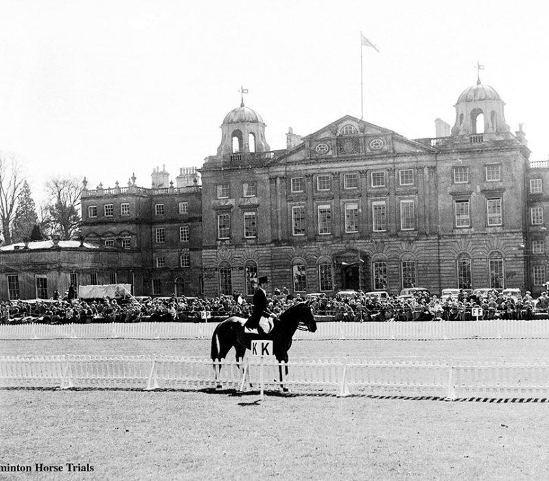 Dressage outside Badminton House in 1953